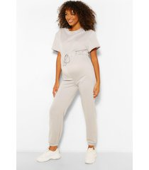 maternity jogger jumpsuit, grey
