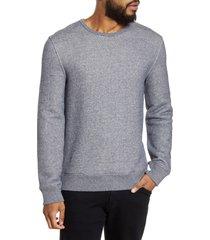 men's vince regular fit crewneck cotton sweatshirt, size x-large - blue
