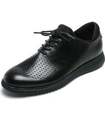 zapato casual de amarrar negro pierre cardin pc7239-a