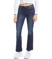petite women's vigoss jagger bootcut jeans, size 25 - blue