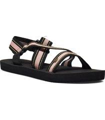 p-low pismo shoes summer shoes flat sandals svart rip curl