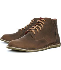 botin casual cuero gerbo brown classic bestias