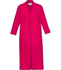 płaszcz klasyczny różowy