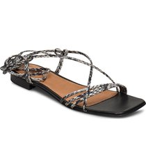 pisa sandals shoes summer shoes flat sandals svart twist & tango