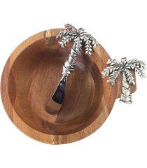 bowl de madeira coqueiro com espatula
