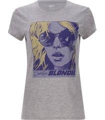 camiseta blondie color gris, talla s