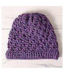 100% alpaca hat, 'berry patch' (peru)