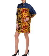 vestito abito donna corto miniabito manica lunga leo chain