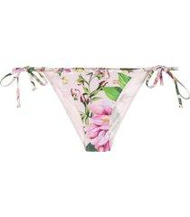 dolce & gabbana floral bikini bottoms - pink
