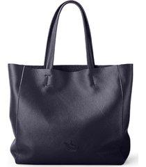 bolsa line store leather sacola shopper n2 couro azul marinho
