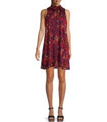 calvin klein women's floral a-line dress - purple multi - size 6