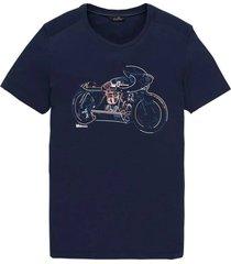 t-shirt single jersey blauw