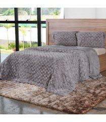 cobertor casal slim peles com porta travesseiro dove - tessi - estampado - dafiti