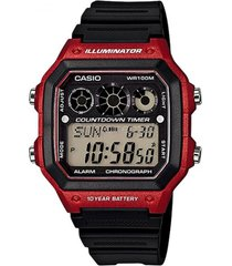 reloj digital rojo casio