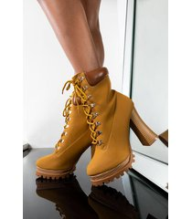 akira no one compares chunky lace up bootie