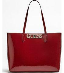 lakierowana torba typu shopper z wewnętrzną kieszenią model uptown chic