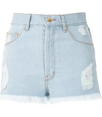 amapô sandra boyfriend denim shorts - blue