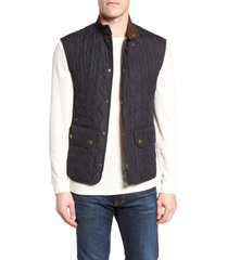 men's barbour lowerdale quilted vest, size x-large - blue