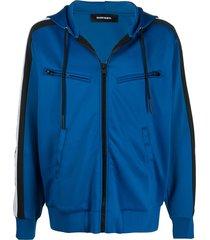 diesel s-steel multi-pocket hooded jacket - blue