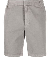 dondup fitted chino shorts - grey