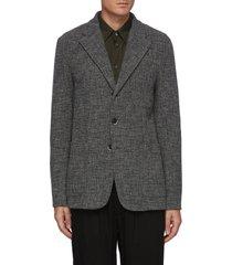 'torceo' notch lapel wool cotton blend knit blazer