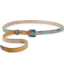 printed skinny belt