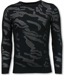 sweater justing 3d camouflage patroon trui - neon pullover -