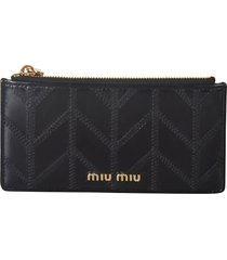 miu miu shine patched card holder