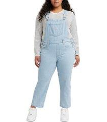 levi's trendy plus size cotton everyday denim overalls