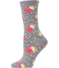 women's popcorn bamboo blend crew socks