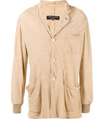 comme des garçons pre-owned relaxed fit buttoned blazer - brown