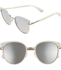 women's kate spade new york janalee 53mm cat eye sunglasses - nude