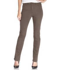 style & co petite tummy-control slim-leg jeans, created for macy's