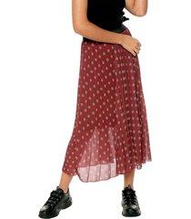 falda vinotinto-beige-negro paris district