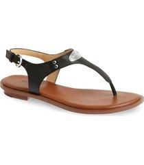 michael michael kors 'plate' thong sandal, size 6 in black at nordstrom