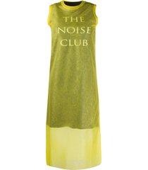mcq alexander mcqueen the noise club dress - yellow