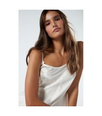 blusa em cetim de seda - off-white p intimissimi