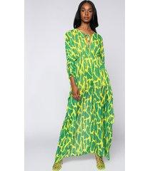 akira glam babe green snake print kaftan jumpsuit