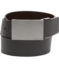 calvin klein reversible embossed plaque belt