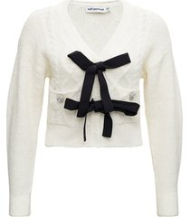 self-portrait knitted cardigan with bows