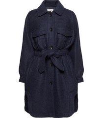 marge jacket dunne lange jas blauw second female