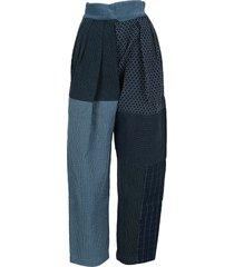 ambush patchwork sashiko pants