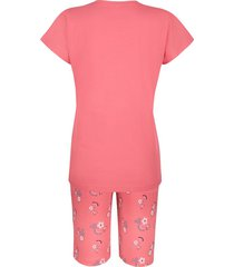 pyjamas blue moon jeansblå & korallröd