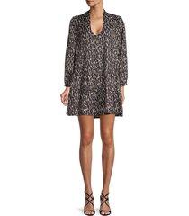 70/21 women's animal-print v-neck dress - animal - size m