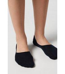 calzedonia unisex cotton invisible socks woman blue size 34-36