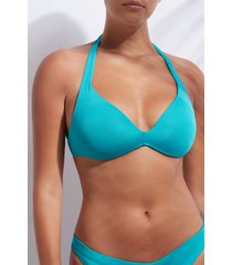 calzedonia graduated triangle swimsuit top indonesia eco woman blue size 5