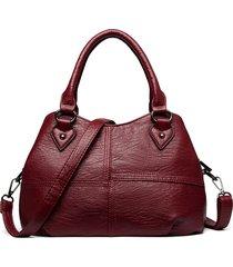 vera pelle plaid solid shoulder handbag shoulder borsa
