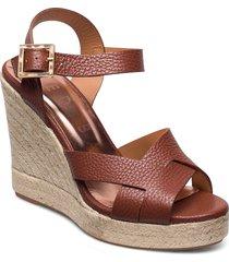 sellana sandalette med klack espadrilles brun ted baker