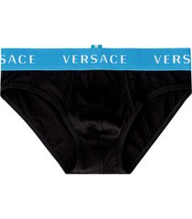 versace cotton panties with elastic band