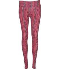 leggings deportivo tobillero estampado mujer rojo tykhe levana